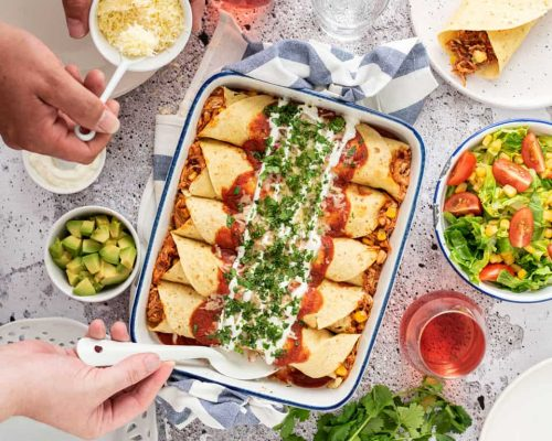 Enchiladas met kip