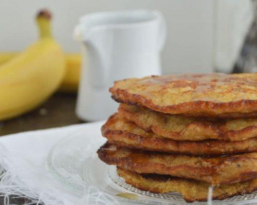 Gezonde pancakes met banaan & havermout