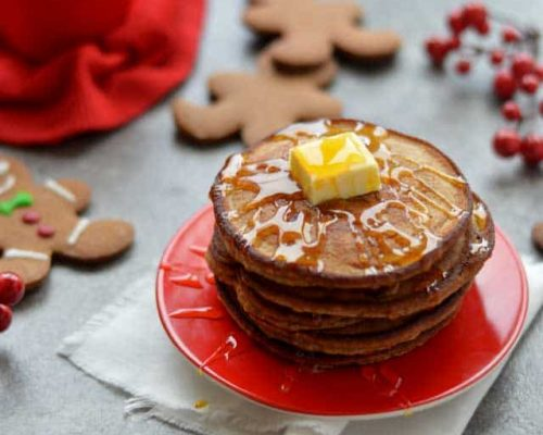 Gingerbread pancakes