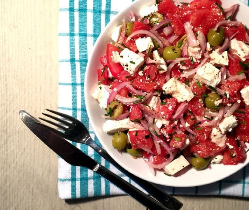 Griekse Tomaten Feta Salade