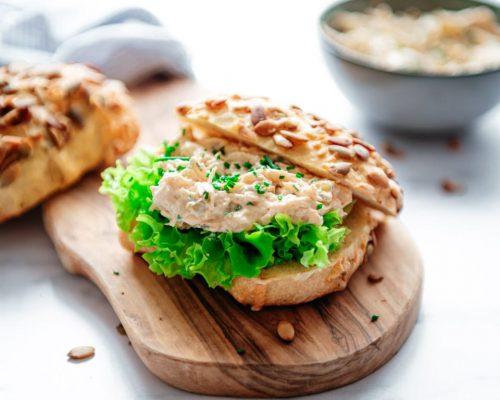 Kipsalade voor op brood