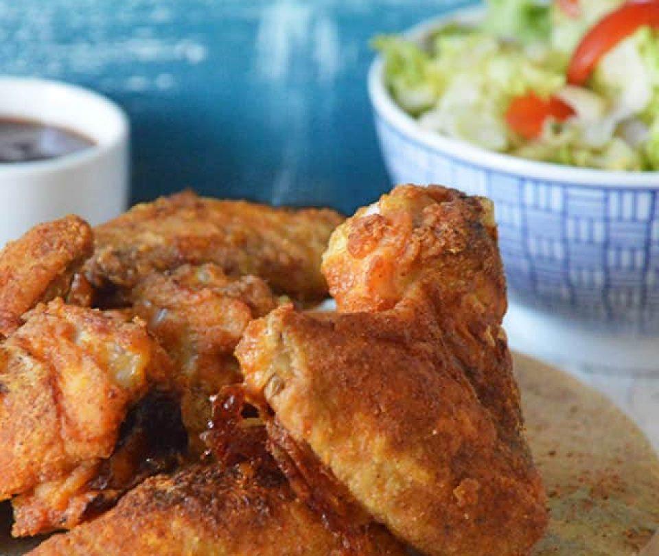 Krokante kippenvleugeltjes uit de oven