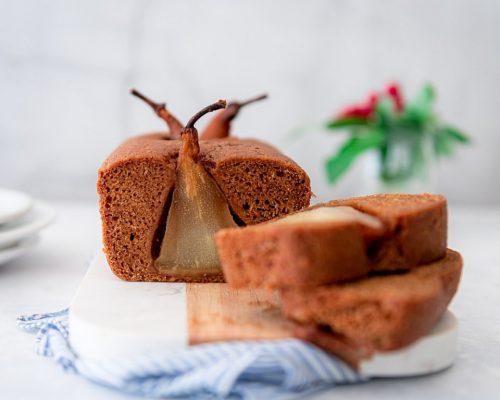 Kruidcake met peer