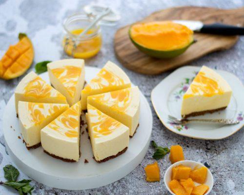 Kwarktaart met mango