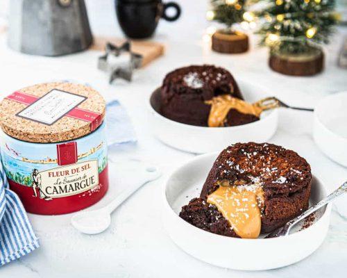 Lava cake met caramel