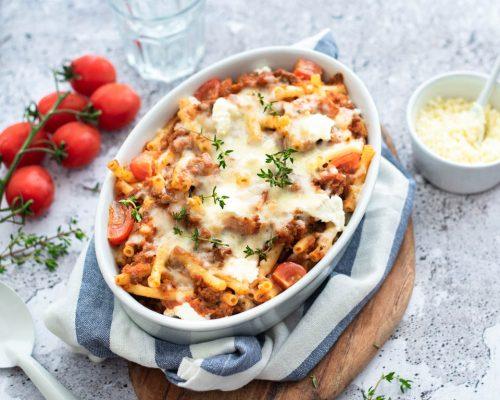 Macaroni ovenschotel met gehakt en kaas