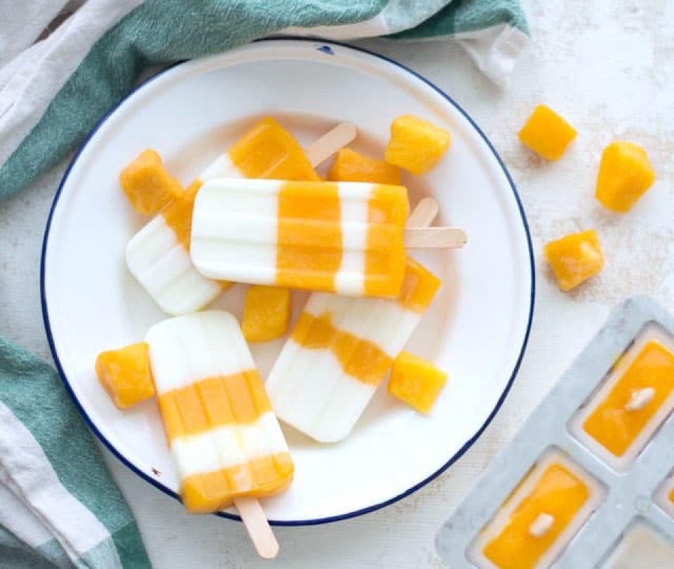 Yoghurtijsjes met mango