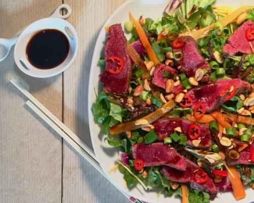 Pittige Oosterse Biefstuk Salade
