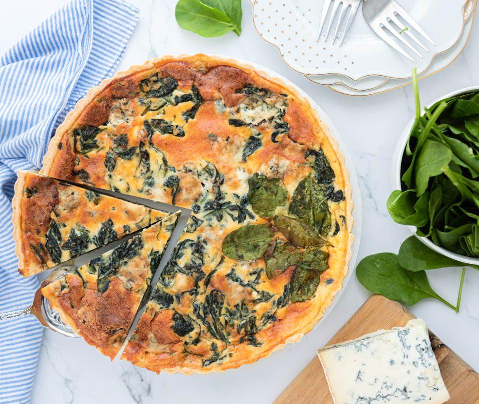 quiche spinazie en gorgonzola