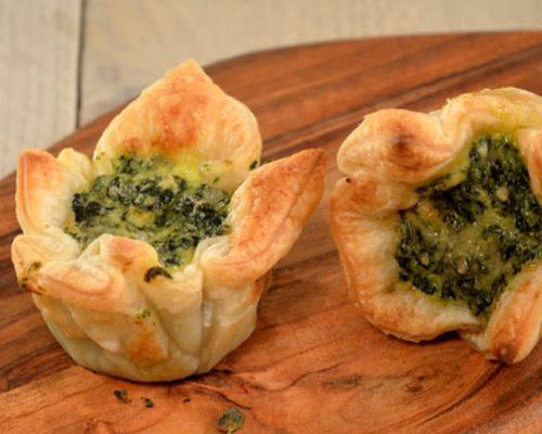 Mini Quiche met Gorgonzola & Spinazie (Shapas)