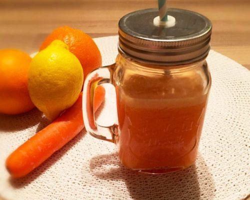 Smoothie wortel, sinaasappel & gember