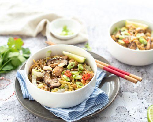 Chow mein met kip