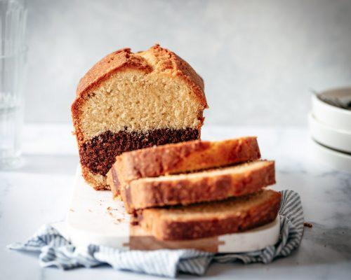 Vanille cake met chocolade