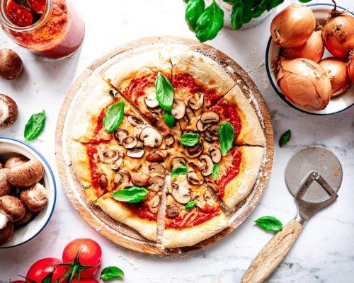 Vegan pizza recept