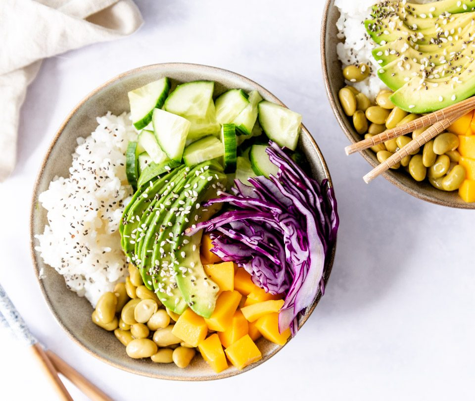 Vegan poke bowl