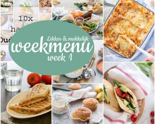 Lekker en makkelijk weekmenu – week 1