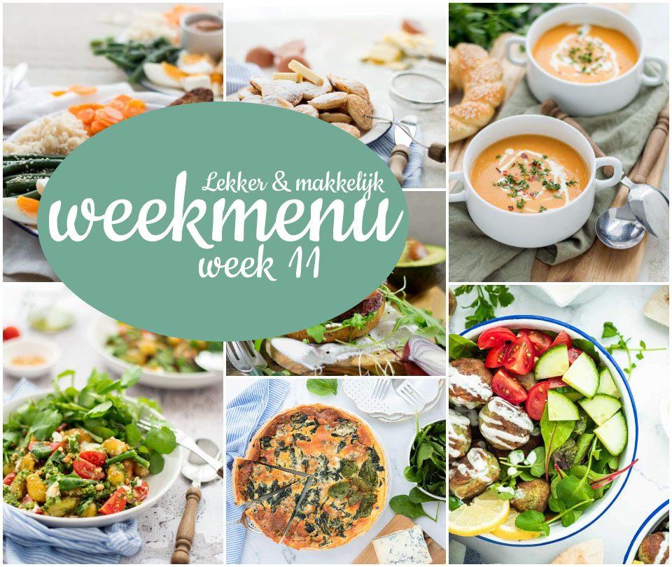 Lekker en makkelijk vegetarisch weekmenu – week 11