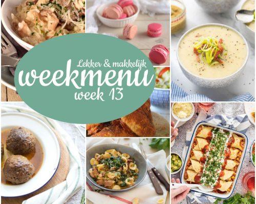 Lekker en makkelijk weekmenu – week 13