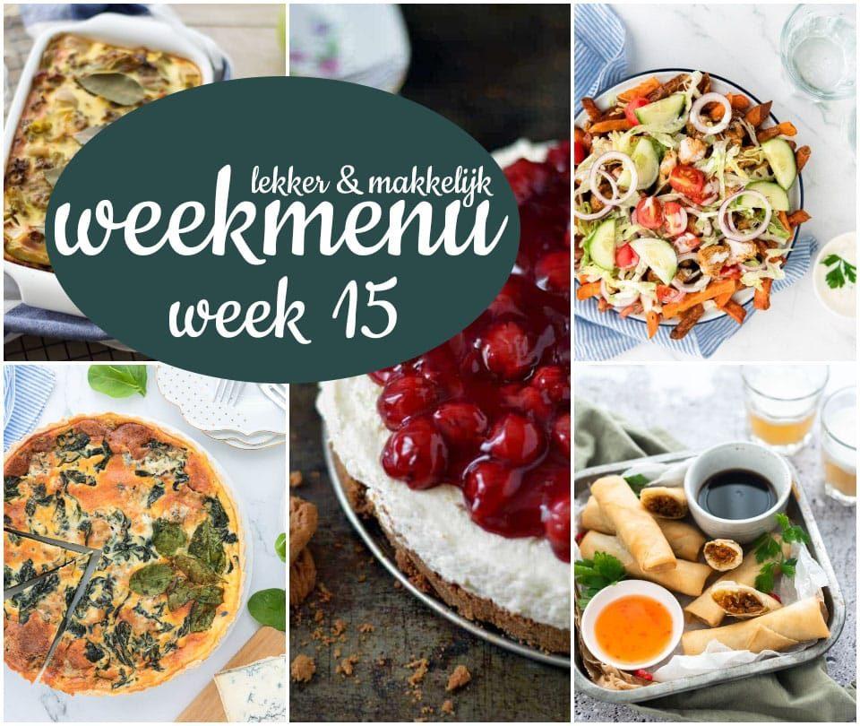 Lekker en makkelijk weekmenu – week 15 2021