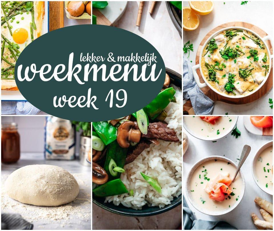Lekker en makkelijk weekmenu – week 19 2021