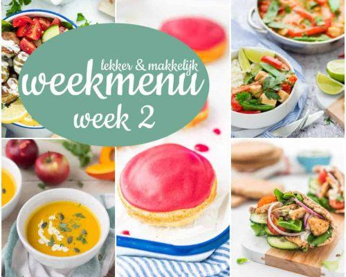 Lekker en makkelijk weekmenu – week 2