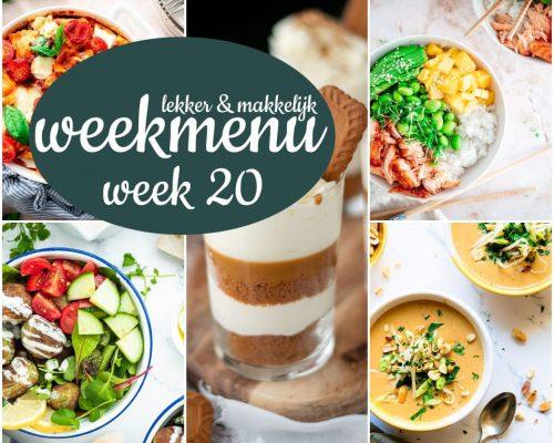 Lekker en makkelijk weekmenu – week 20 2021