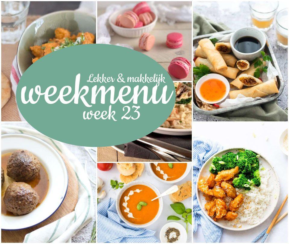 Lekker en makkelijk weekmenu – week 23