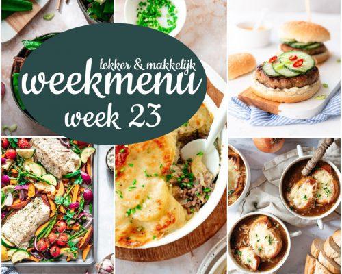 Lekker en makkelijk weekmenu – week 23 2021
