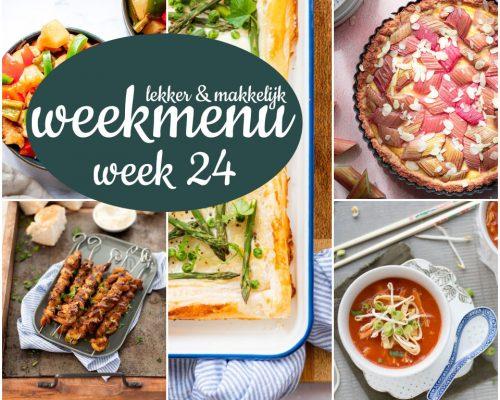 Lekker en makkelijk weekmenu – week 24 2021