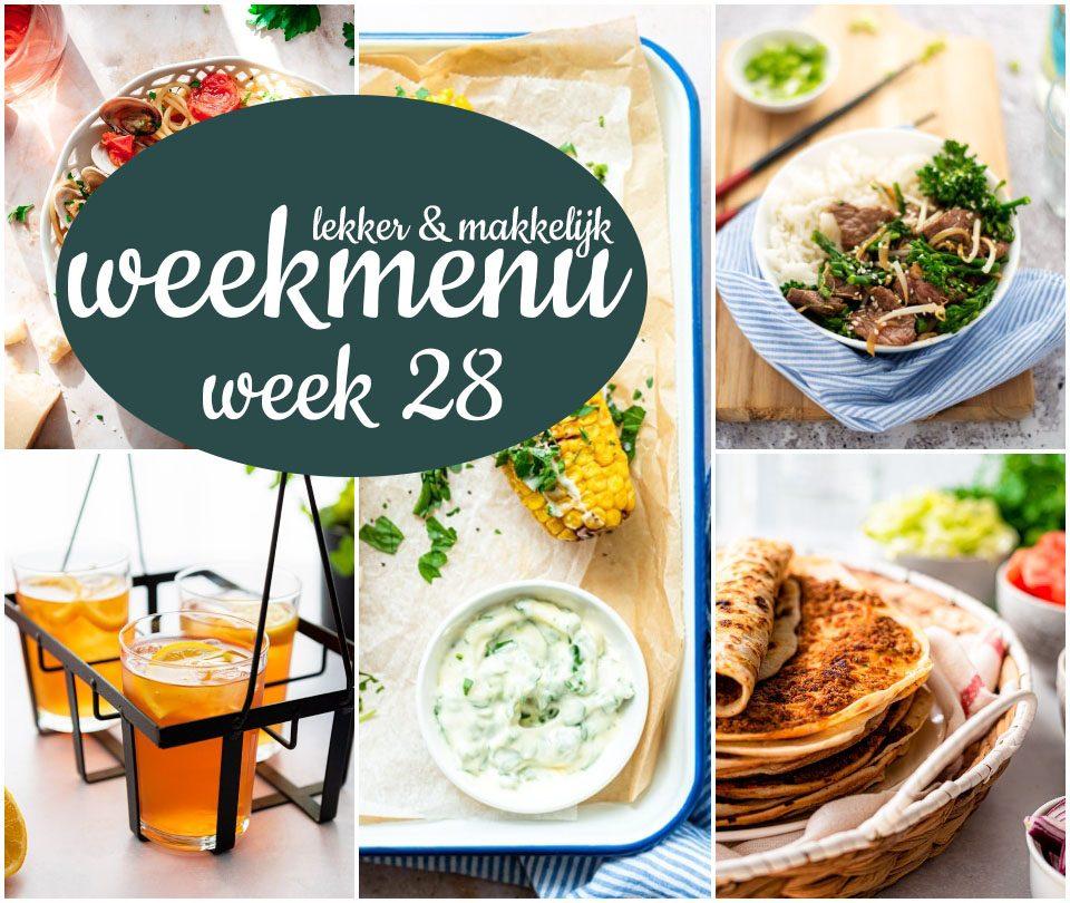 Lekker en makkelijk weekmenu – week 28 2021
