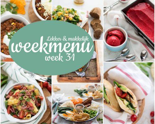 Lekker en makkelijk weekmenu – week 31