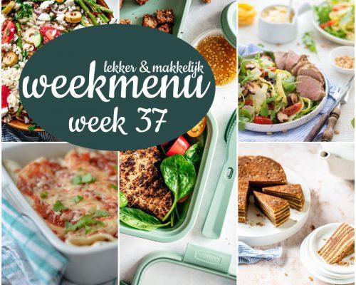 Lekker en makkelijk weekmenu – week 37 2021