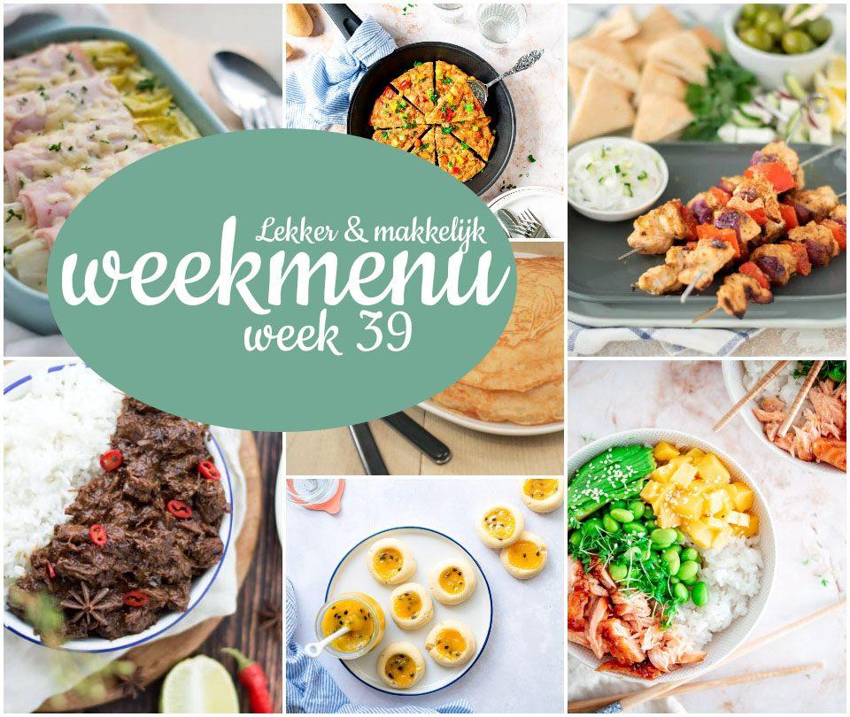 Lekker en makkelijk weekmenu – week 39