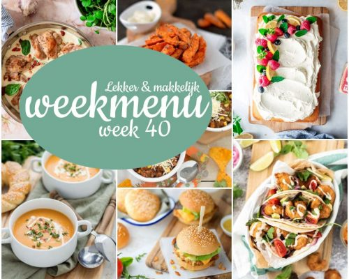 Lekker en makkelijk weekmenu – week 40