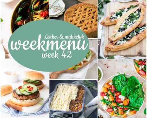 Lekker en makkelijk weekmenu – week 42