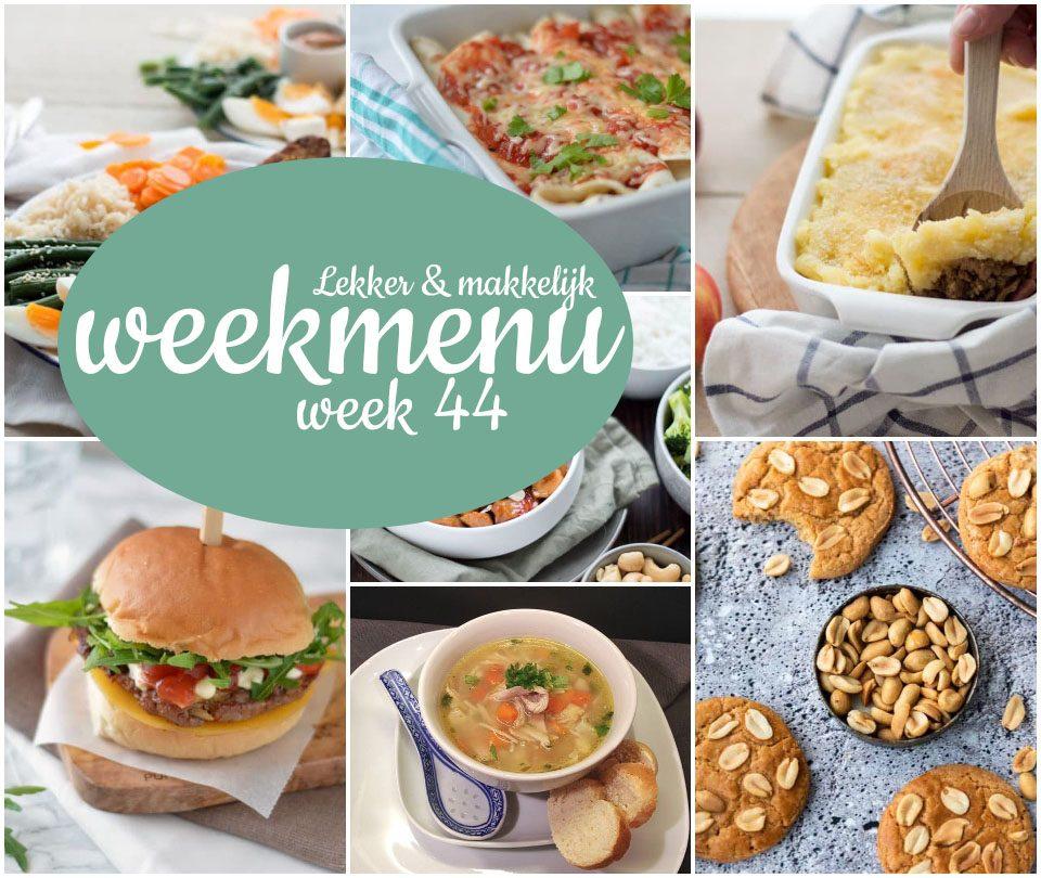 Lekker en makkelijk weekmenu – week 44