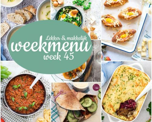 Lekker en makkelijk weekmenu – week 45