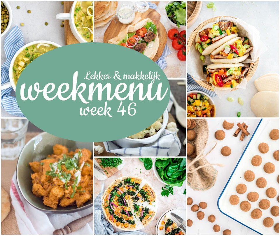 Lekker en makkelijk weekmenu – week 46