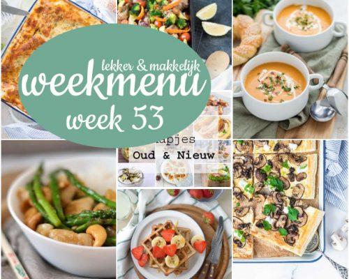 Lekker en makkelijk weekmenu – week 53