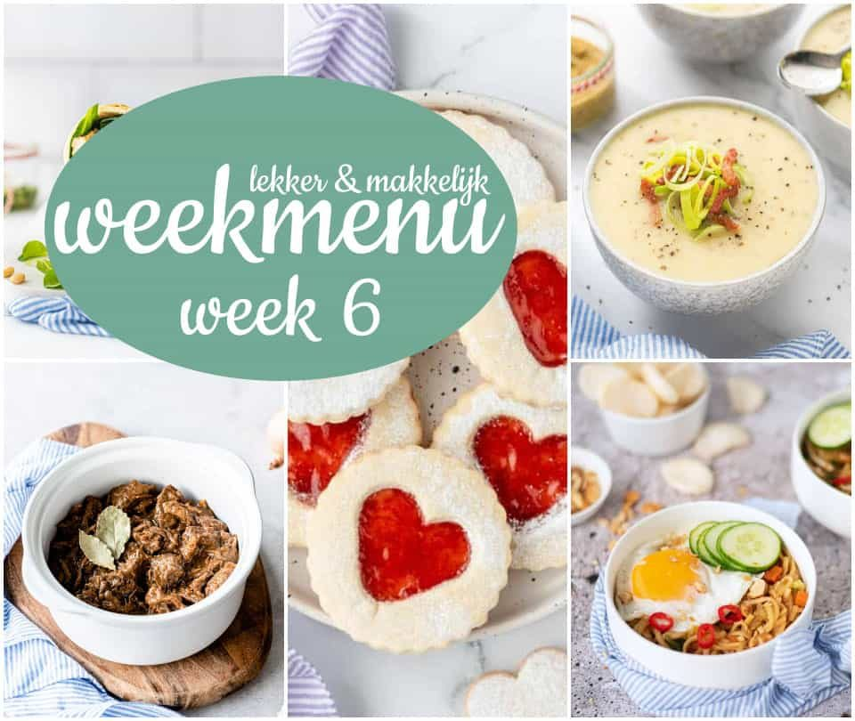 Lekker en makkelijk weekmenu – week 6