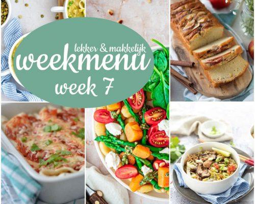 Lekker en makkelijk weekmenu – week 7