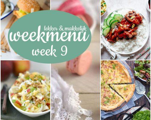 Lekker en makkelijk weekmenu – week 9