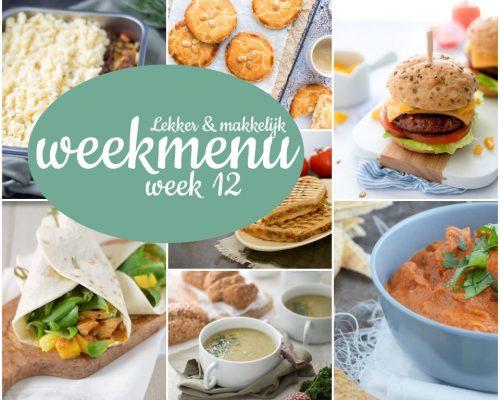 Lekker en makkelijk weekmenu – week 12
