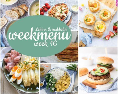 Lekker en makkelijk weekmenu – week 16