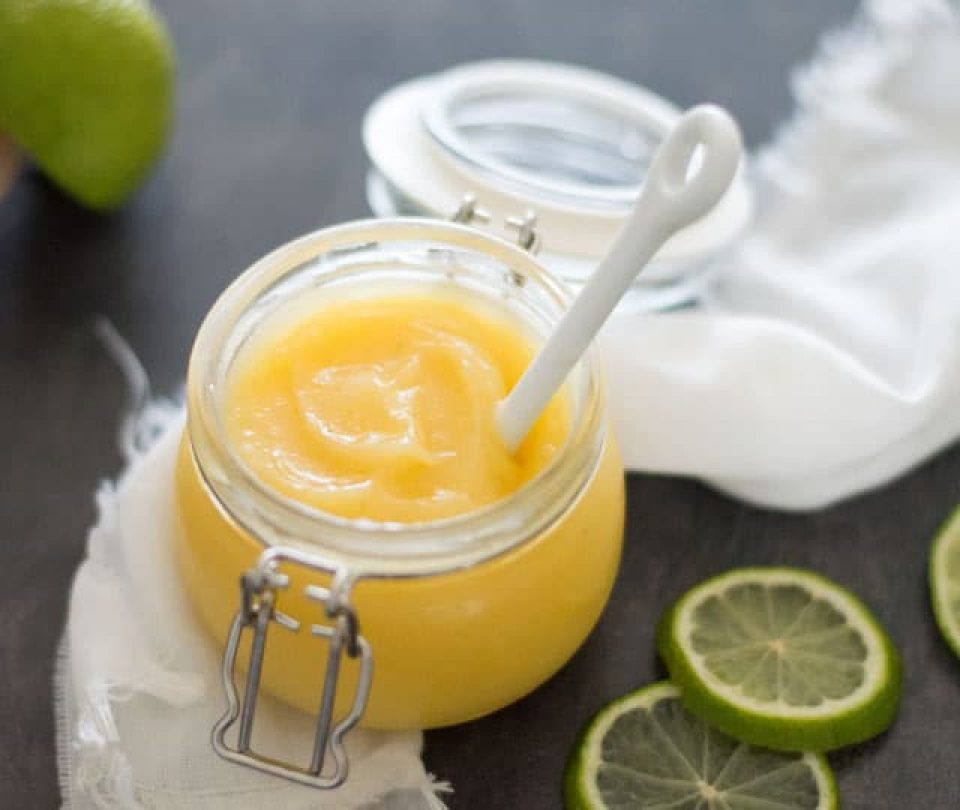 Lime curd recept