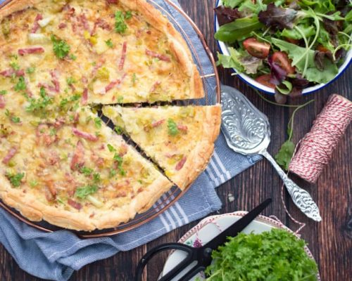 Quiche ham en prei
