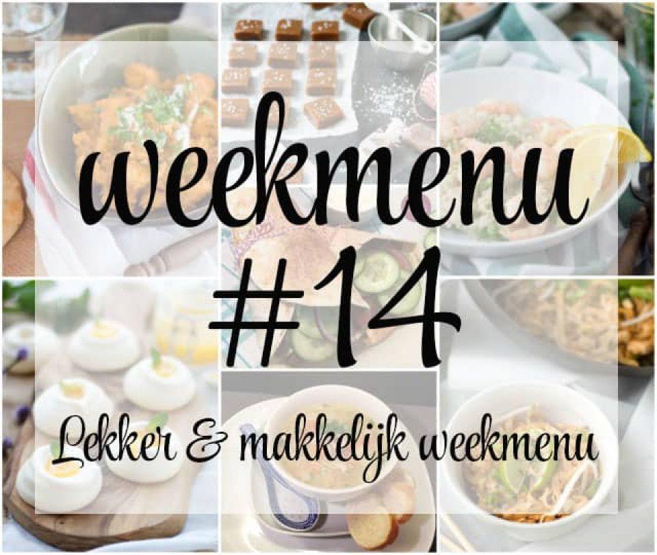 Lekker en makkelijk weekmenu – week 14