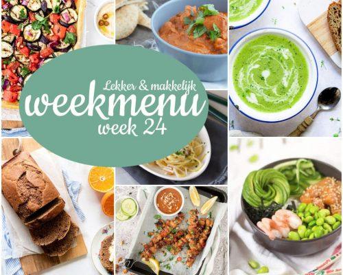 Lekker en makkelijk weekmenu – week 24