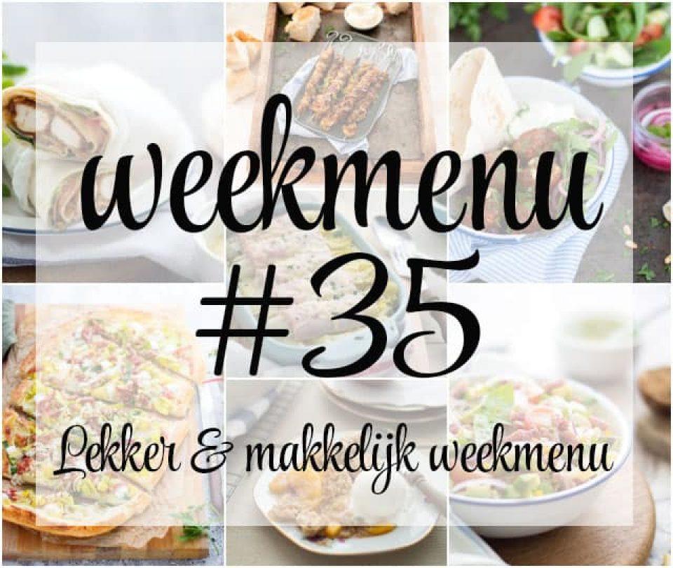 Lekker en makkelijk weekmenu – week 35