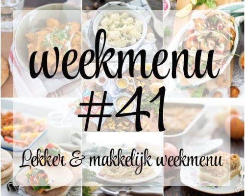 Lekker en makkelijk weekmenu – week 41